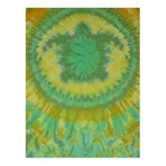 I Love Green Turtles Tie Dye Phat Dyes Postcards