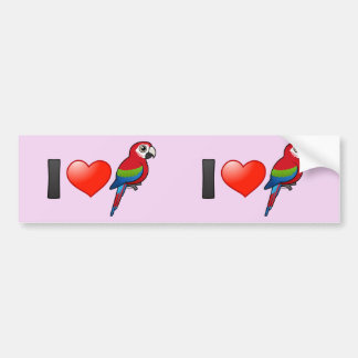 I Love Green-winged Macaws Bumper Sticker