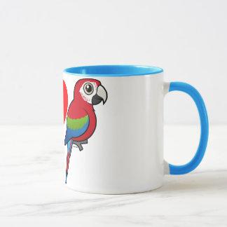 I Love Green-winged Macaws Mug