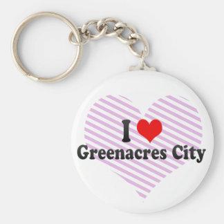 I Love Greenacres City, United States Keychain
