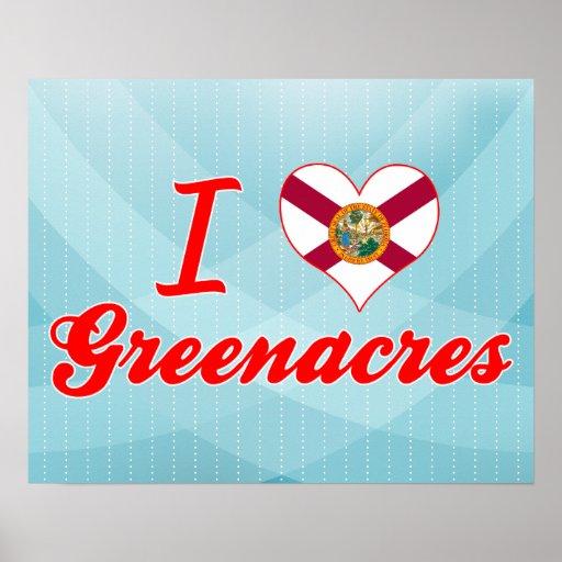 I Love Greenacres, Florida Posters