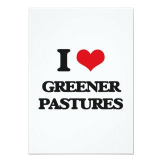 "I love Greener Pastures 5"" X 7"" Invitation Card"