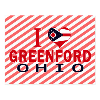 I love Greenford, Ohio Postcard
