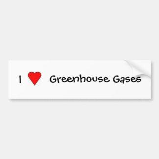 I Love Greenhouse Gases Car Bumper Sticker