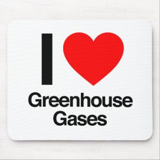 i love greenhouse gases mousepad