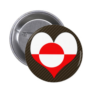 I Love Greenland Buttons