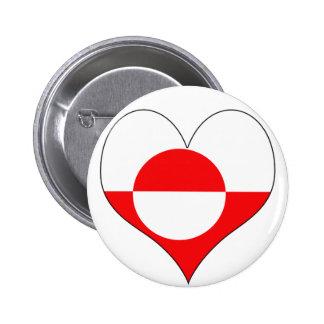 I Love Greenland Pin