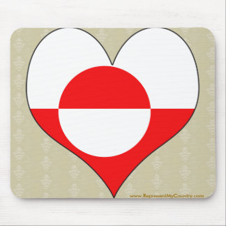 I Love Greenland Mouse Pad