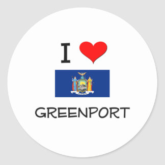 I Love Greenport New York Classic Round Sticker