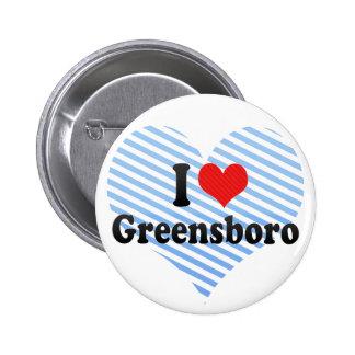 I Love Greensboro Buttons