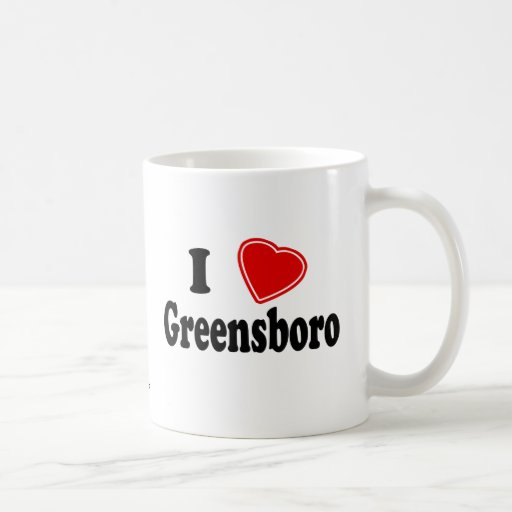 I Love Greensboro Classic White Coffee Mug