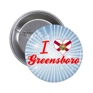 I Love Greensboro, Florida Pins