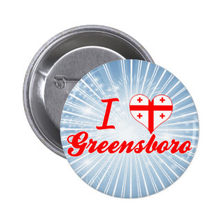I Love Greensboro, Georgia Pinback Button