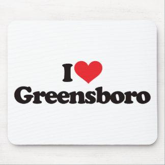 I Love Greensboro Mouse Pad