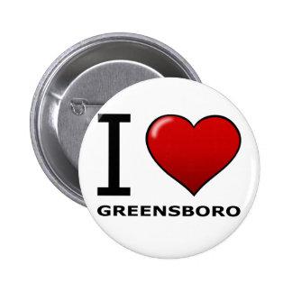 I LOVE GREENSBORO, NC - NORTH CAROLINA PIN