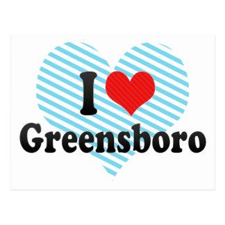 I Love Greensboro Postcard
