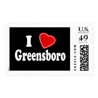 I Love Greensboro Stamps