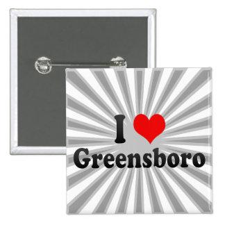 I Love Greensboro, United States Button