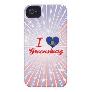 I Love Greensburg, Pennsylvania iPhone 4 Cases