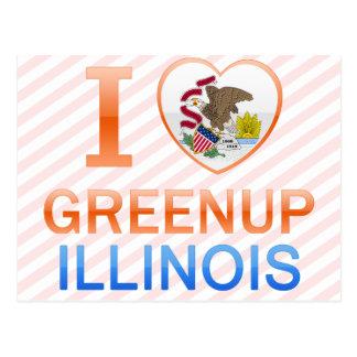 I Love Greenup, IL Postcard
