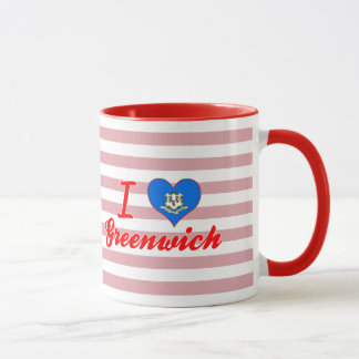 I Love Greenwich, Connecticut Mug