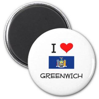 I Love Greenwich New York Refrigerator Magnets