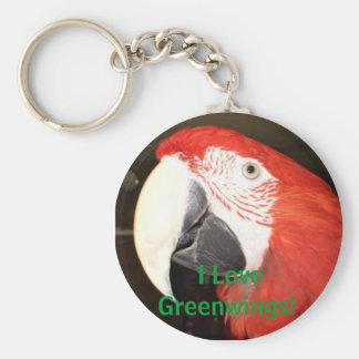 I Love Greenwings! Basic Round Button Keychain
