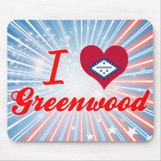 I Love Greenwood, Arkansas Mouse Pad