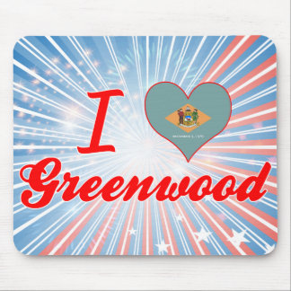I Love Greenwood, Delaware Mouse Pad
