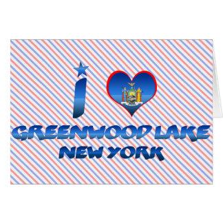 I love Greenwood Lake, New York Greeting Cards