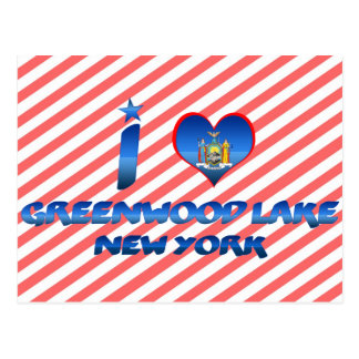I love Greenwood Lake, New York Postcard