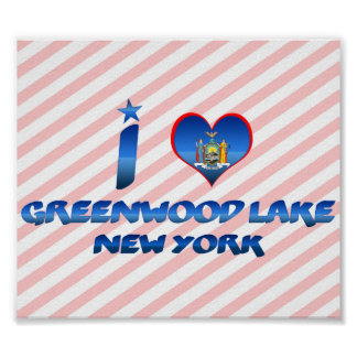 I love Greenwood Lake, New York Posters