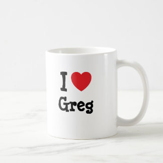 I love Greg heart custom personalized Coffee Mugs