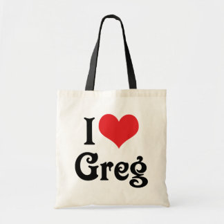 I Love Greg Tote Bag