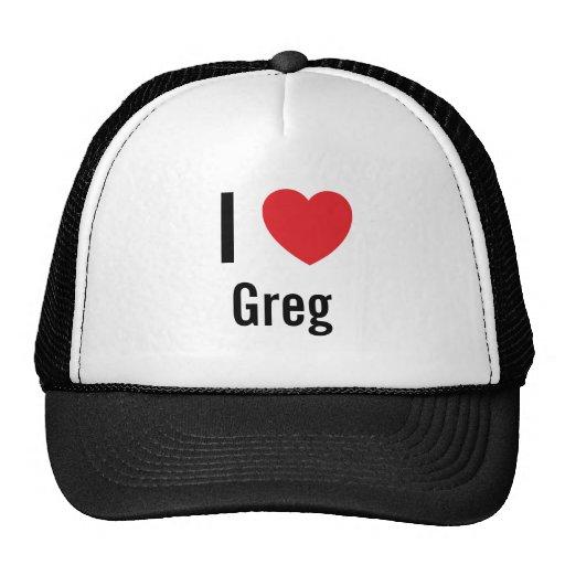 I love Greg Trucker Hats