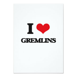 I love Gremlins 5x7 Paper Invitation Card