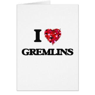 I love Gremlins Greeting Card