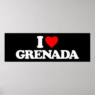 I LOVE GRENADA POSTER