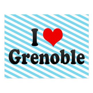 I Love Grenoble, France Postcard