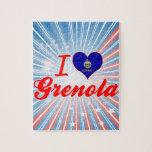 I Love Grenola, Kansas Jigsaw Puzzles