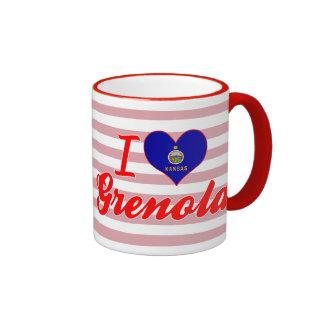 I Love Grenola, Kansas Ringer Coffee Mug