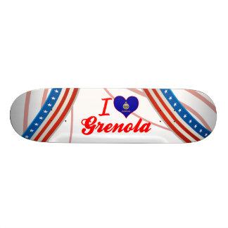 I Love Grenola, Kansas Custom Skate Board