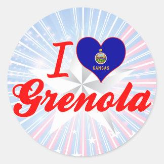 I Love Grenola, Kansas Round Stickers