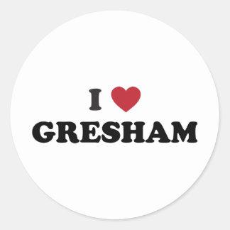 I Love Gresham Oregon Classic Round Sticker