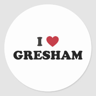 I Love Gresham Oregon Stickers