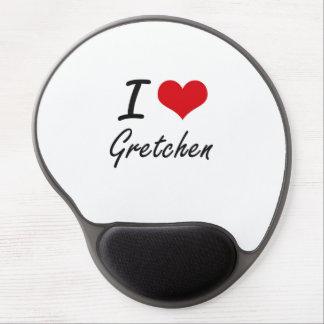 I Love Gretchen artistic design Gel Mouse Pad
