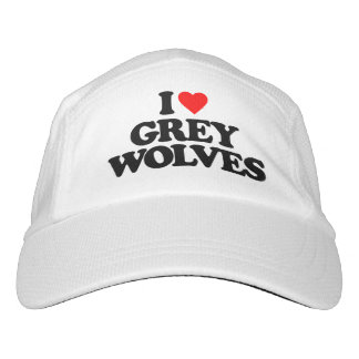 I LOVE GREY WOLVES HEADSWEATS HAT