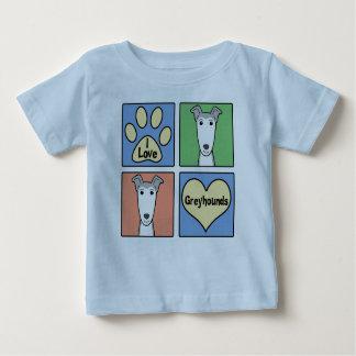 I Love Greyhounds Baby T-Shirt