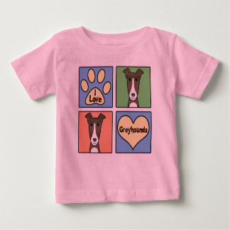 I Love Greyhounds Baby T-Shirt