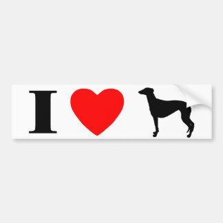I Love Greyhounds Bumper Sticker